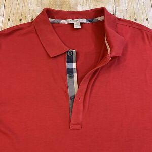 Burberry Brit Nova Check Placket Short Sleeve Polo Golf Shirt Size XL