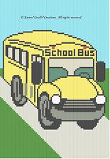 Crochet Patterns - SCHOOL BUS Color Graph Pattern