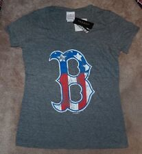 NEW MLB Boston Red Sox Stars & Stripes T Shirt Tri Blend Women L Large NWT