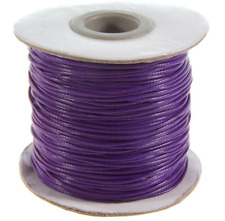 LOT 5 METRE FIL SYNTHÉTIQUE BRILLANT VIOLET PURPLE BIJOU PERLE CORDON DIY 0.8mm