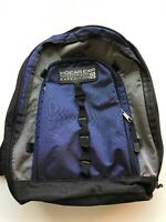 In Gear Expedition Hiking Backpack Blue and Gray Daypack Bookbag