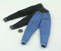 """1/6 Male Jeans Closing Pants Clothes Model Accessory For 12"""" Action Figure Toy"""