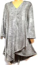 plus sz XS / 14 TS TAKING SHAPE Live Love Sparkle Tunic soft stretch top NWT!