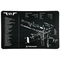 "1911 Pistol Mat 11""x17"" Includes Small Microfiber TekTowel for Gun Cleaning"