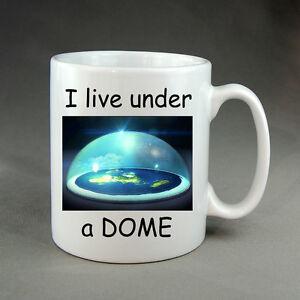 Under the Dome Flat Earth Mug Gift Present Geocentric Coffee Tea Drink Firmament