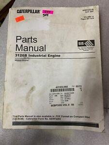 CAT Caterpillar 3126B Industrial Diesel Engine Parts Manual #544
