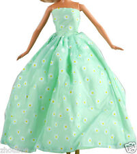 Handwork soft wedding Party Dress/Evening Clothes/Gown For Barbie Doll  1117