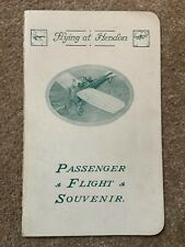 More details for hendon passenger flight souvenir / certificate 1916 in grahame-white bi-plane