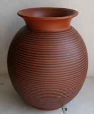 Vase ,Ton ,Rillendekor, 50/60er Jahre