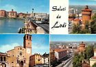 Cartolina - Postcard - Saluti da - Lodi - Vedutine - VG - 1965