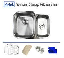 """Ariel Premium 29"""" inches 16G Stainless Steel Undermount Kitchen Sink Double Bowl"""