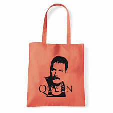 Art T-shirt, Borsa shoulder Queen Freddy Mercury, Corallo, Shopper, Mare