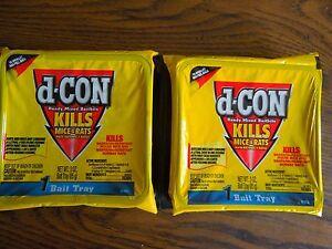 d-Con Ready Mixed Baitbits, (2) 3 OZ Trays, Poison, Pellets Kills Mice/Rats Dcon