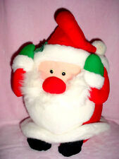 "Vtg-15""-L'Art De Chine-China-Christmas Santa Claus Stuffed Toy Decoration"