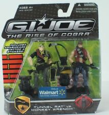 G.I. Joe The Rise of Cobra Tunnel Rat vs. Monkey Wrench Walmart Exclusive NEW