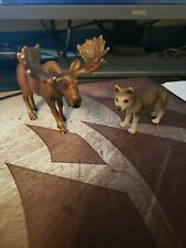 Schleich Wolf and Moose Bundle Lot 14249