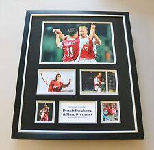 Bergkamp & Overmars Signed Photo Large Framed Arsenal Autograph Display + COA