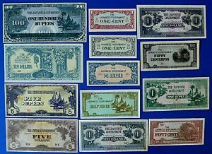 JAPANESE OCCUPATION CURRENCY NOTES.                                     CH13-137