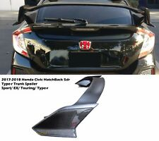 For 17-18 Honda civic 5dr Hatch Type-r Rear Trunk Spoiler+Carbon Fiber add on