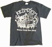 KROMOSOM 2013 TOUR PUNK HARDCORE Small T Shirt NUCLEAR REICH Nomad Frenzy Black