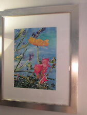 WATERCOLOR  FLORAL  PAINTING  ORIGINAL  SIGN  2000