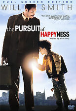 The Pursuit of Happyness (DVD, 2007, Full Frame) Brand New Will Smith