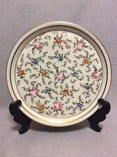 Plat en porcelaine de Paris 1830 semis de fleurs Charles X Louis Philippe 1er