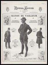 PUBLICITE  ROYAL HOUSE VETEMENTS pour  HOMME FASHION  MEN AD  1913 -1H