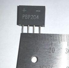 Bridge rectifier PCB mount heavy duty 2AMP 400 volts. PBP204 high voltage.
