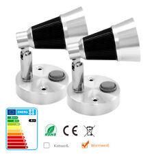 2xWarmweiß 12V LED Wandlampe Leselampe Schalter Wohnmobil Wohnwagen Innenleuchte