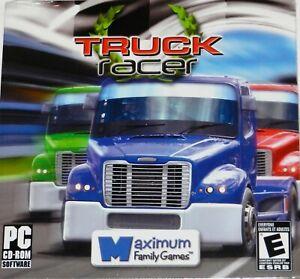 PC CD-ROM game, TRUCK RACER, Maximum Family Games. Full Action High power racing
