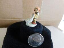 """Robert Olszewski's & Goebel Miniature Co  """" Goose Girl"""" mini bronze Hummel"""