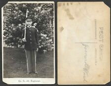 Old Military Real Photo Postcard - Soldier from Company A, 4th Regiment