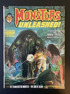 Monsters Unleashed #3 November 1973 Curtis (Marvel) Neal Adams, Man-Thing