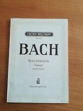 Noten. Bach. Trauermusik (Kantate 198). Klavierauszug