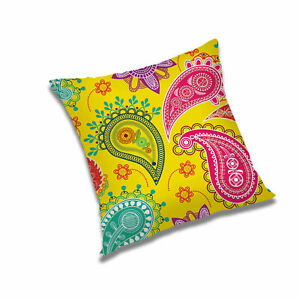 """Paisley Yellow Printed Cushion Cover Pillow Case Home Décor 12"""",16"""",18"""",20"""",24"""""""