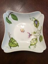 "Godinger & Co Porcelain 4 1/2"" Dish Ladybug And Leaf Design Tray Candy Trinket"