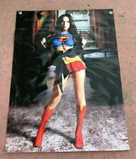Super Girl canvas thick vinyl banner poster Megan Fox comic book figure