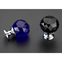Cabinet Cupboard Crystal Glass Pull Handle Door Knob Diamond Handle Pull