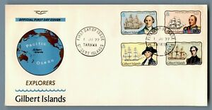 DR WHO 1977 GILBERT ISLANDS FDC EXPLORERS  C240467