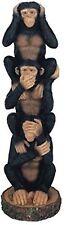 No Evil MONKEY TOTEM FIGURINE See Hear Speak GSC 54093 8.5 in Tall Trio Statue