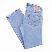 Vintage LEVI'S 501 Straight Fit Men's Blue Distressed Grunge Jeans W36 L36