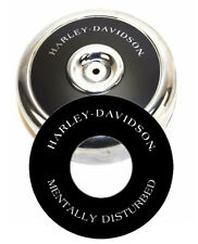 "Harley-Davidson MENTALLY DISTURBED  8"" Round Air Cleaner Filter Cover Insert Evo"