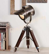 NAUTICO Designer Lampada da tavolo forma di riflettore luce spot vintage industriale marino