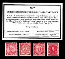 1930 - 1939 COMMEMORATIVE DECADE SET OF MINT -MNH- VINTAGE U.S. POSTAGE STAMPS