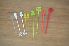 Vintage group lot of mixed swizzle sticks cocktail stirrers tiki surf Ansett