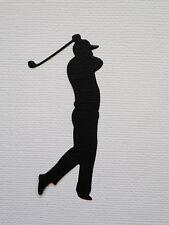Golf Golfer Paper Die Cuts x 10 Man Scrapbooking Embellishment - Not a Die