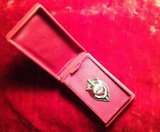 MONGOLIAN SOVIET KGB STATE SECURITY BADGE IN PRESENTATION BOX EARLY RARE