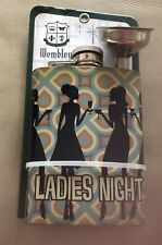 New listing Unopened Mini Flask Plus Funnel - Ladies Night 4 Oz Hinged Cap Stainless Steel