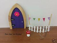 Fairy Door Accessory Set -  Fence  Bunting & Toadstools